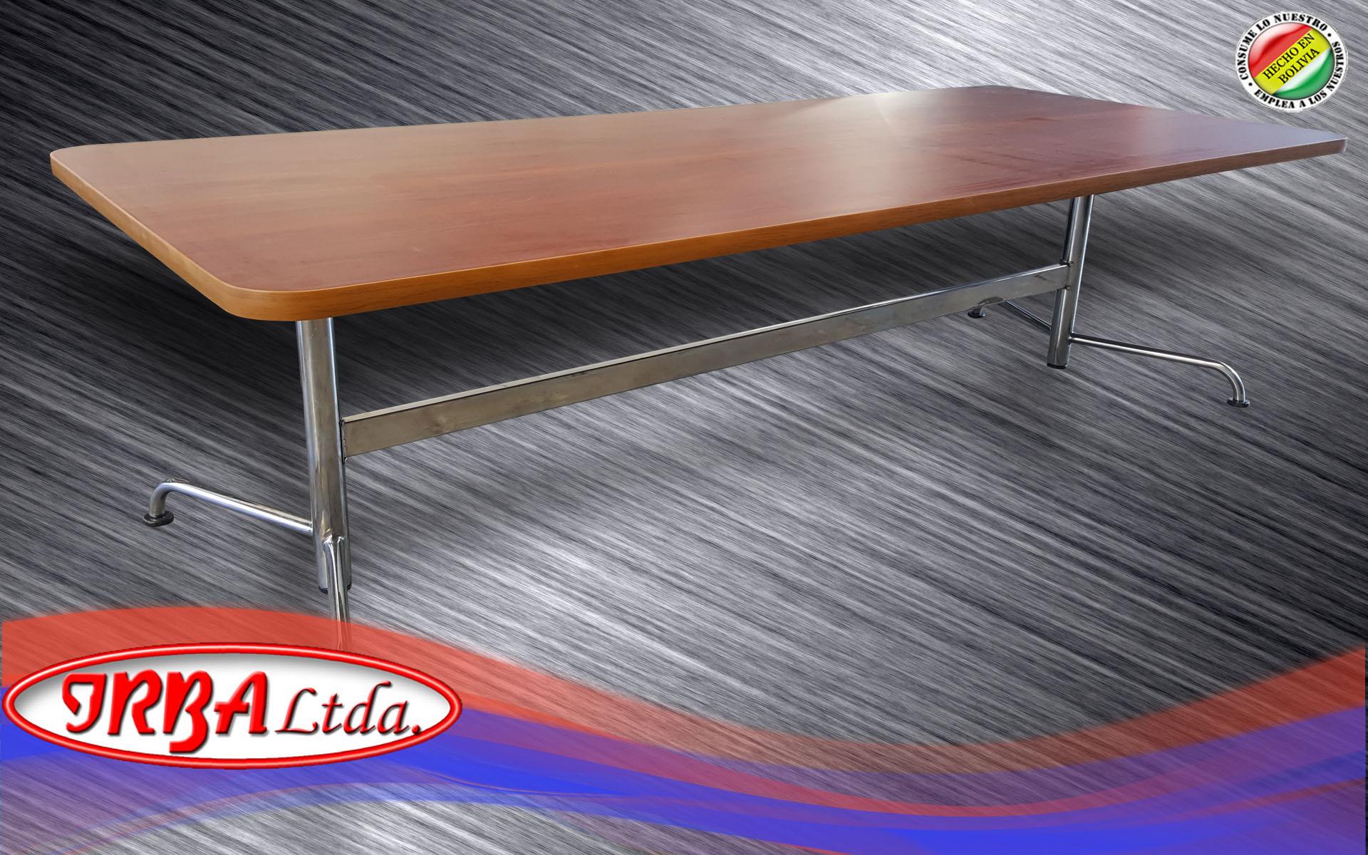 Mesa especial de reunión patas cromadas